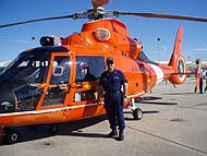Jeff Blomgren Checks out the Coast Guard Helicopter